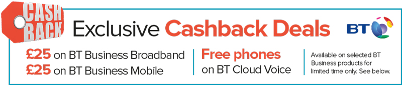 BT £25 Cashback offer